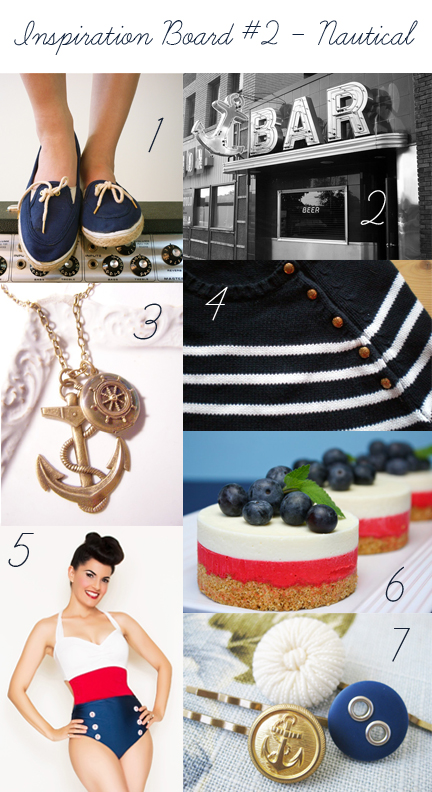 Nautical Themed Inspiration Board