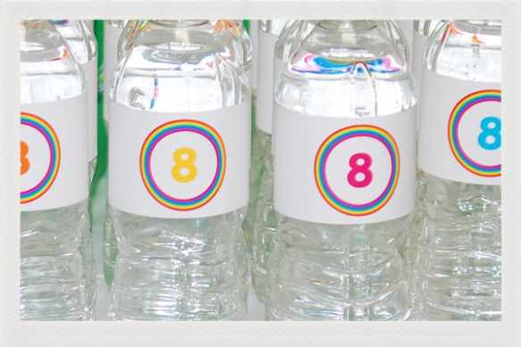 custom number 8 water bottles