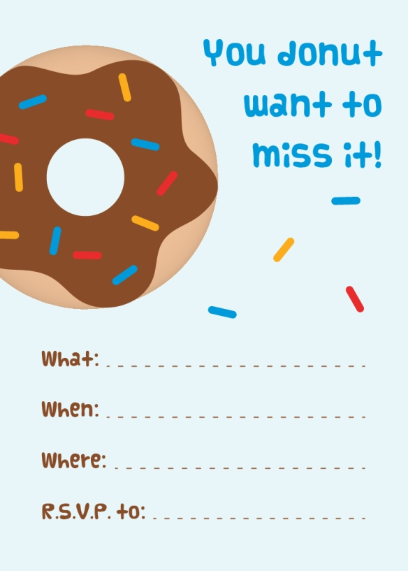 Free Printable Donut Party Invitation