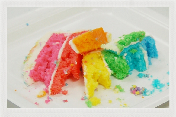 rainbow cake crumbs